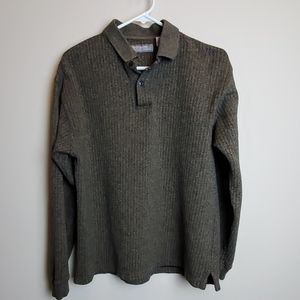 Pierre Cardin Mens Pullover Collered Sweater Sz M